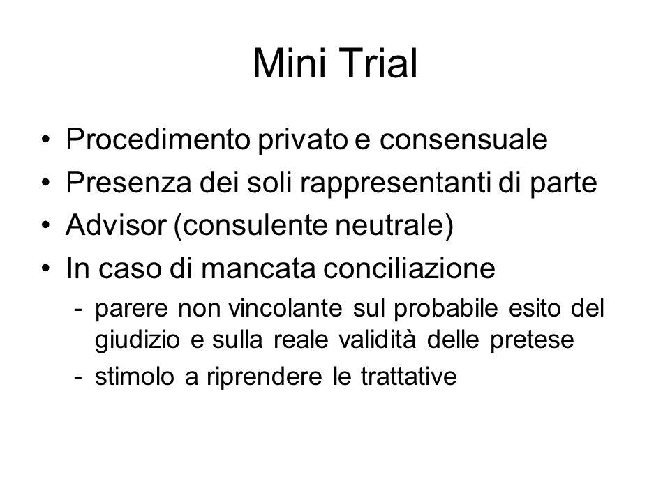Mini Trial Procedimento privato e consensuale