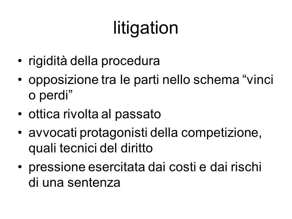 litigation rigidità della procedura