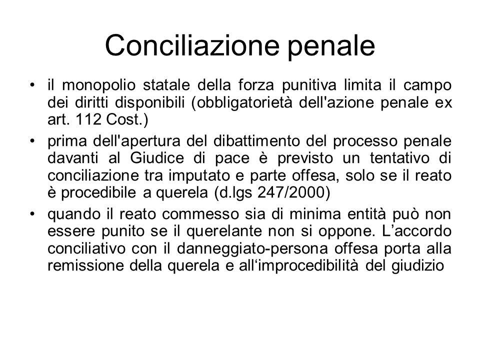 Conciliazione penale