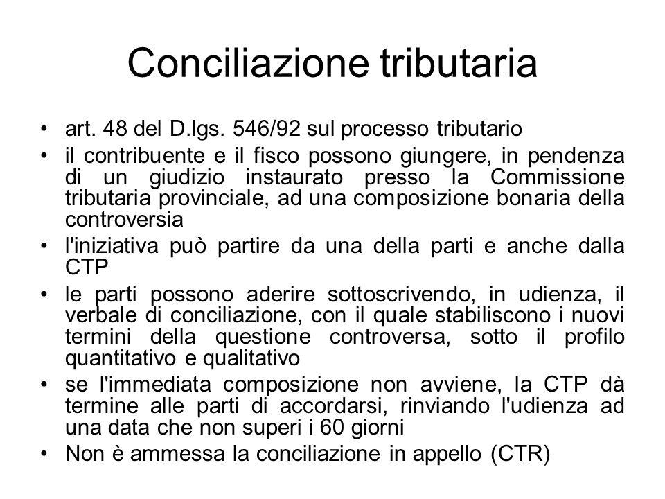 Conciliazione tributaria