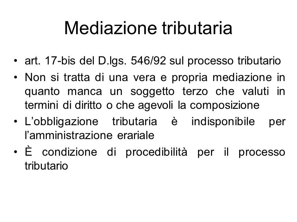 Mediazione tributaria