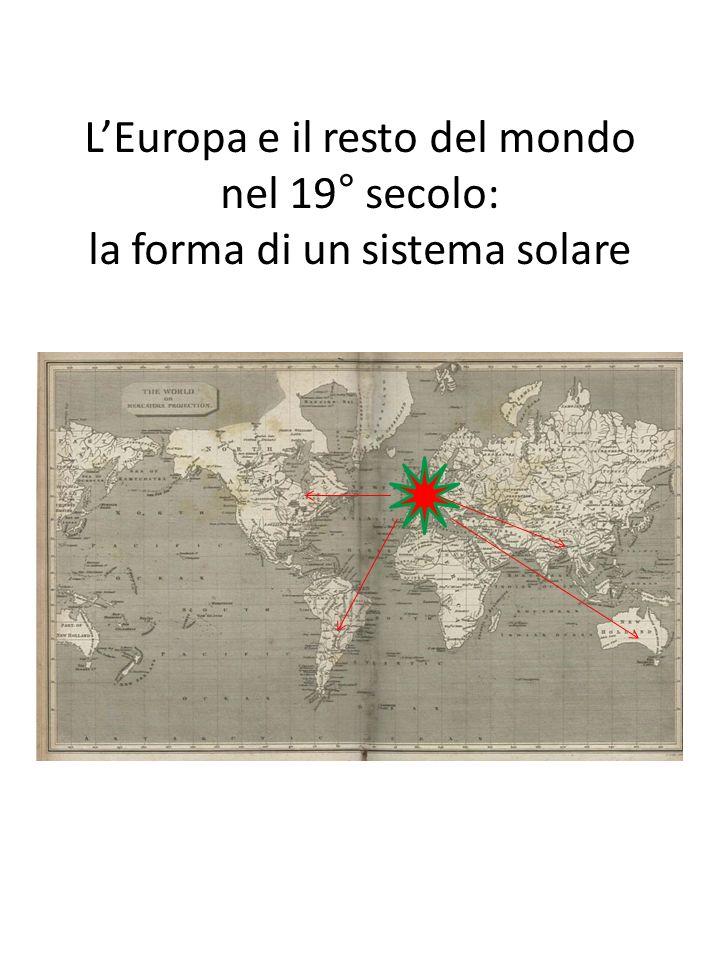 L'Europa e il resto del mondo nel 19° secolo: la forma di un sistema solare