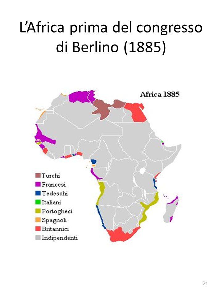 L'Africa prima del congresso di Berlino (1885)