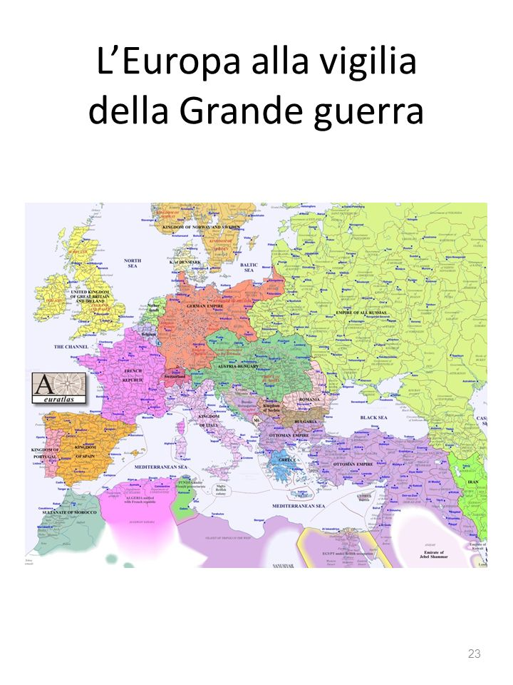 L'Europa alla vigilia della Grande guerra