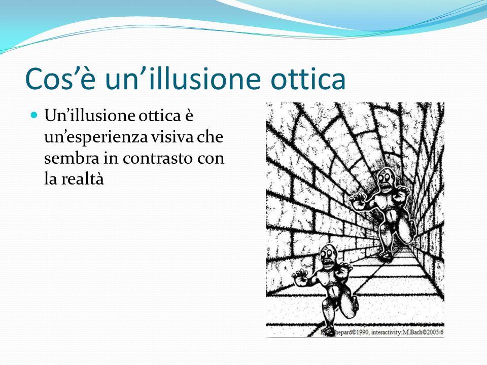 Cos'è un'illusione ottica