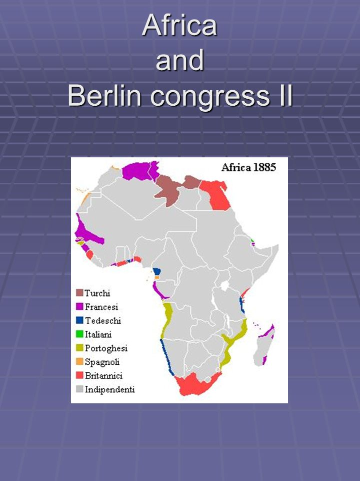 Africa and Berlin congress II