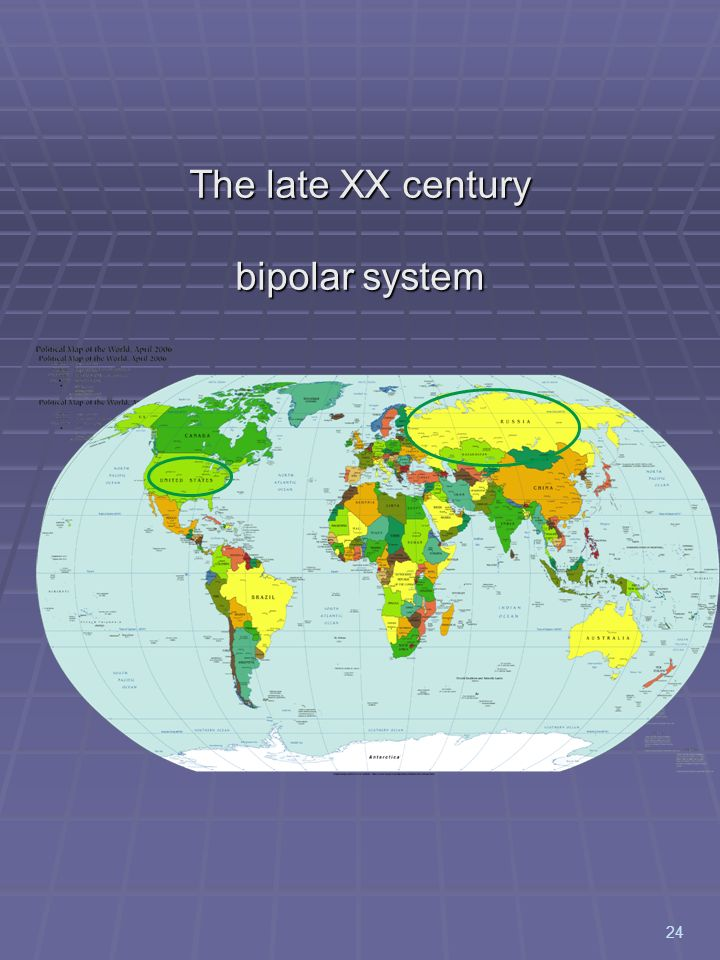 The late XX century bipolar system