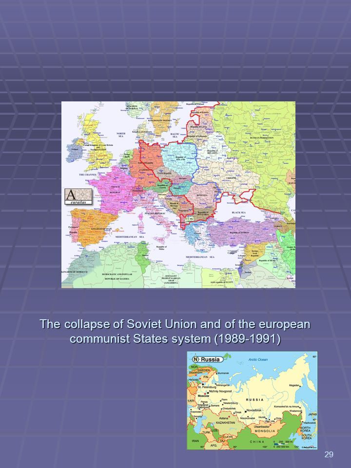 The collapse of Soviet Union and of the european communist States system (1989-1991)