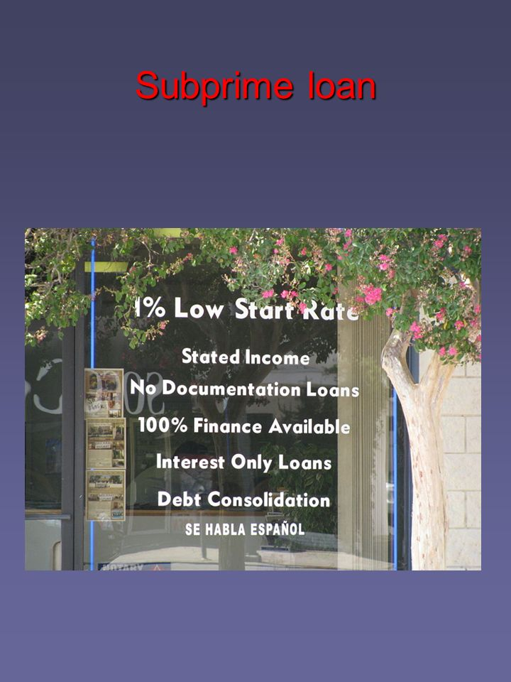 Subprime loan
