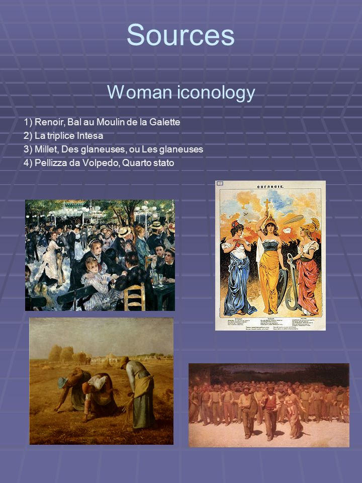 Sources Woman iconology