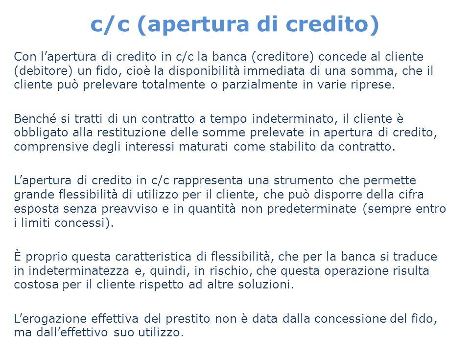c/c (apertura di credito)