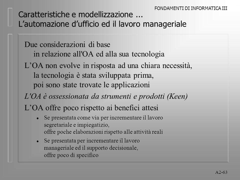 Due considerazioni di base in relazione all OA ed alla sua tecnologia