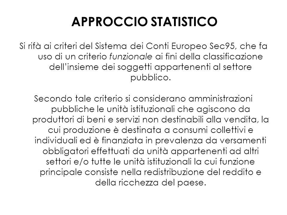 APPROCCIO STATISTICO