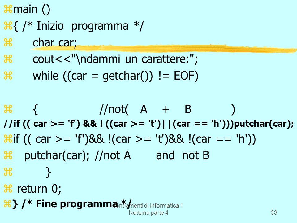 fondamenti di informatica 1 Nettuno parte 4