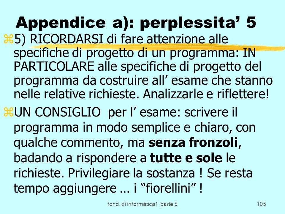 Appendice a): perplessita' 5