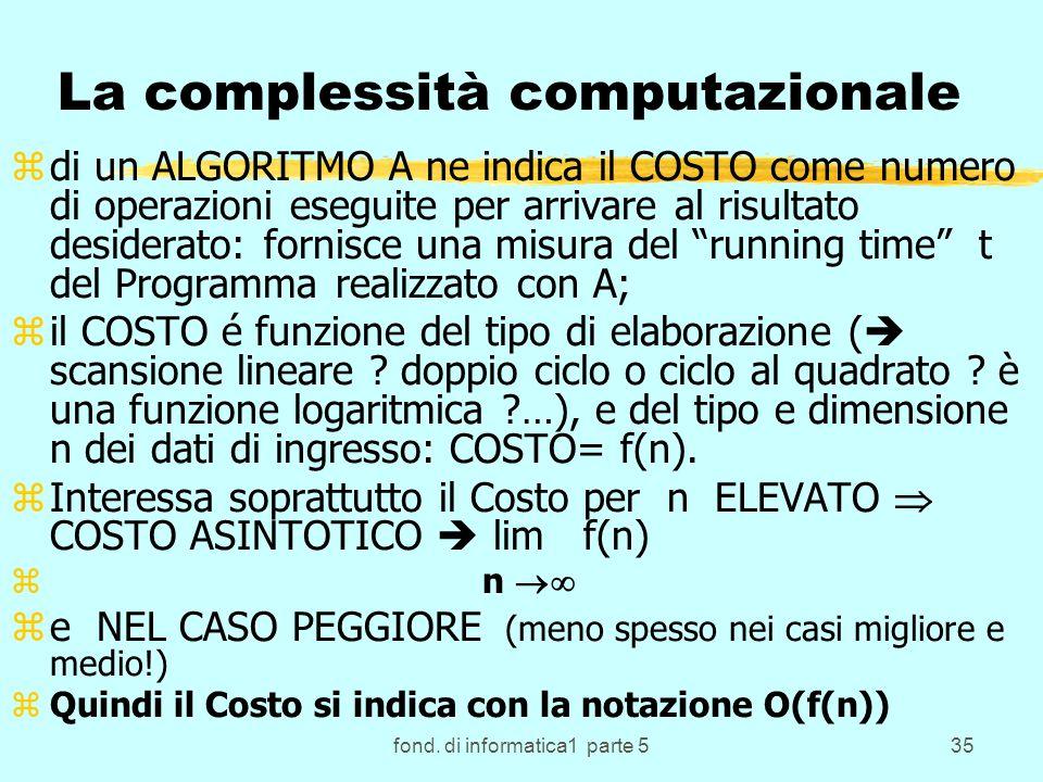 La complessità computazionale