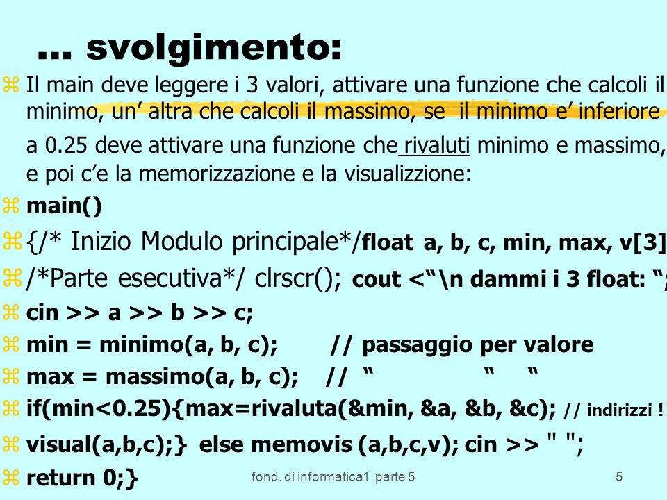 fond. di informatica1 parte 5