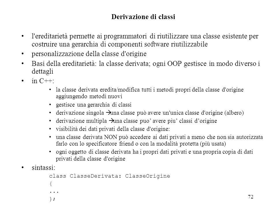 personalizzazione della classe d origine