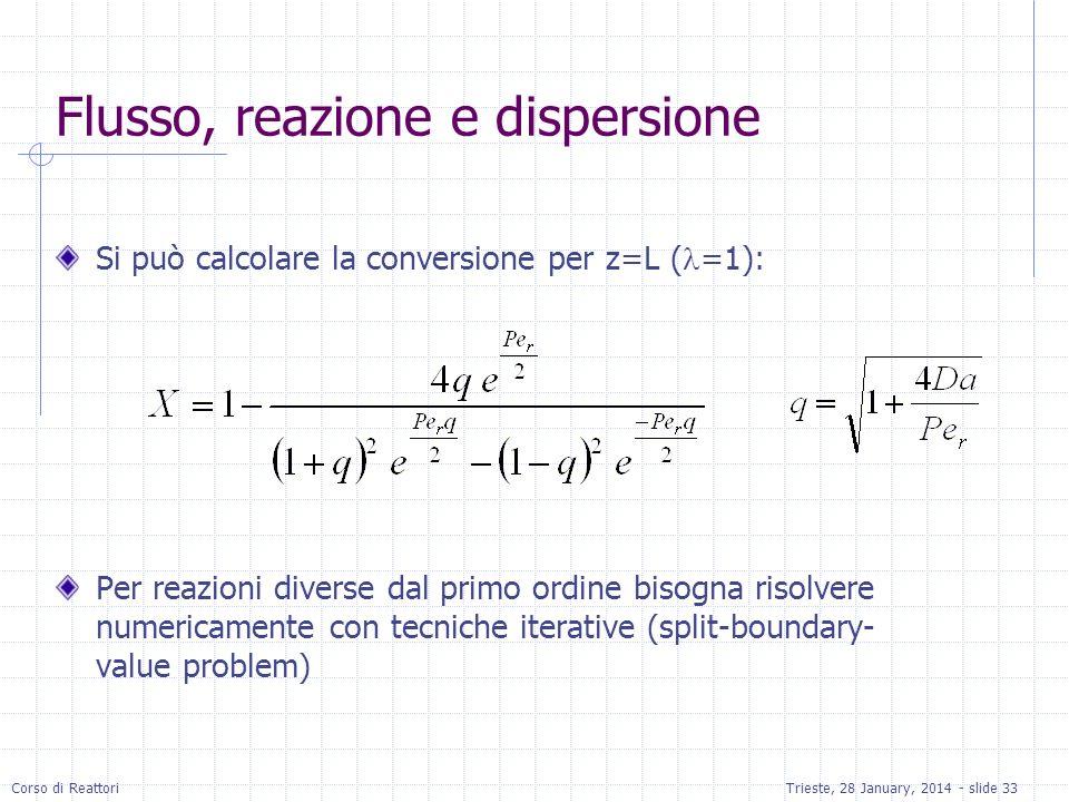 Flusso, reazione e dispersione