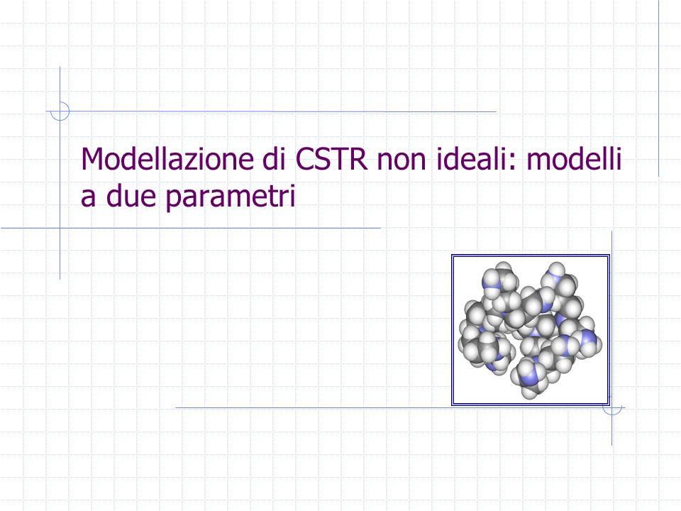 Modellazione di CSTR non ideali: modelli a due parametri