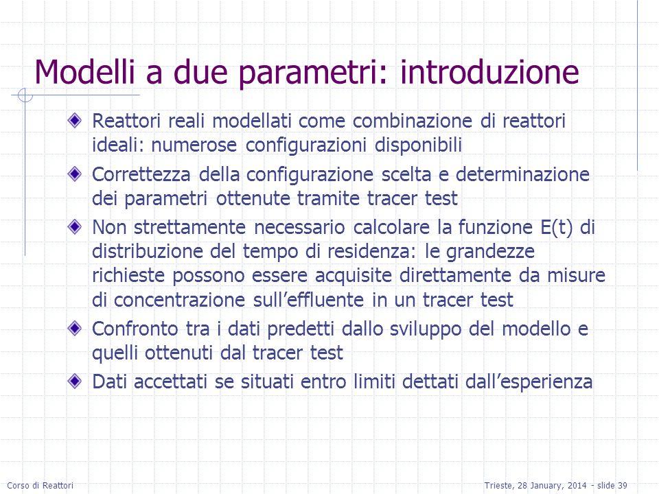 Modelli a due parametri: introduzione