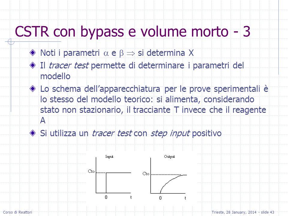 CSTR con bypass e volume morto - 3