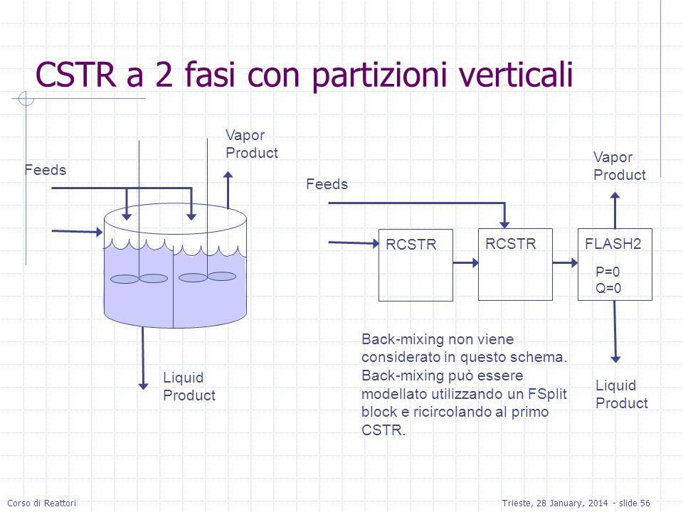 CSTR a 2 fasi con partizioni verticali
