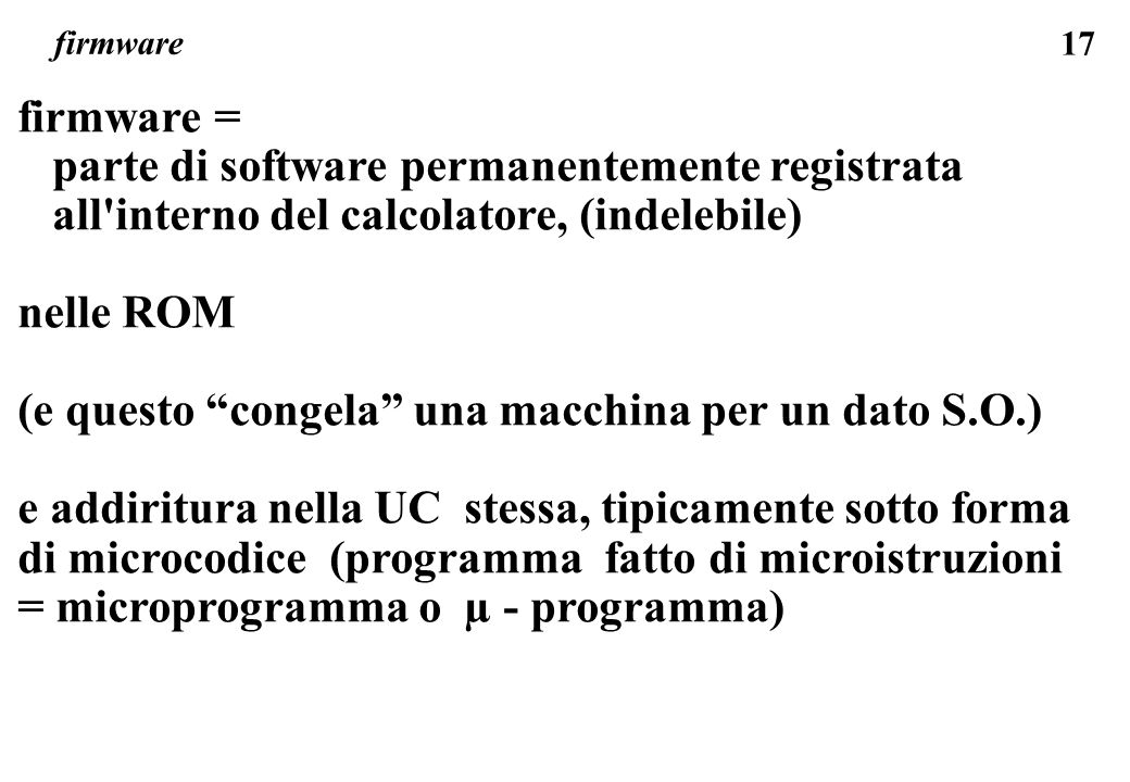 parte di software permanentemente registrata