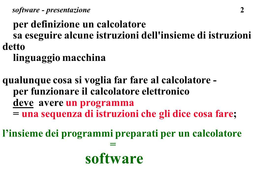 software - presentazione