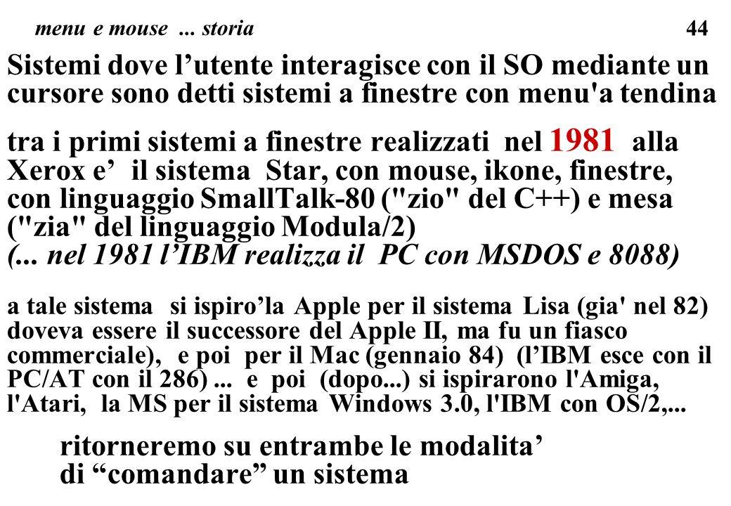 (... nel 1981 l'IBM realizza il PC con MSDOS e 8088)