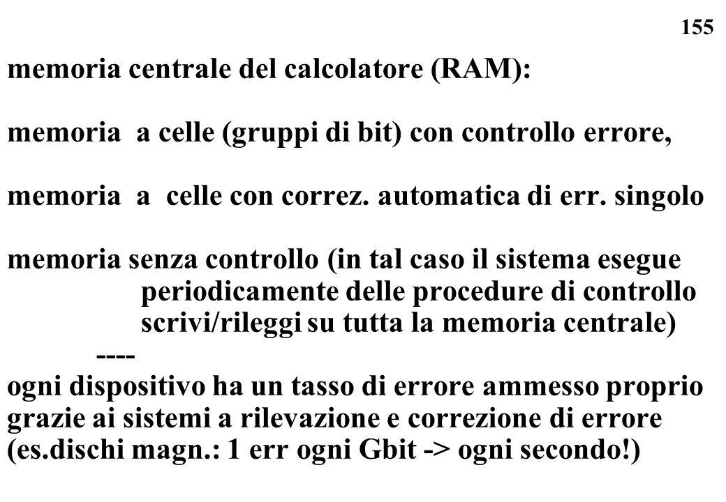 memoria centrale del calcolatore (RAM):