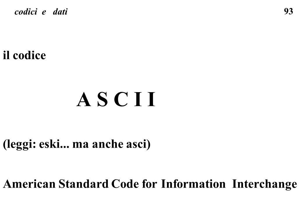 A S C I I il codice (leggi: eski... ma anche asci)