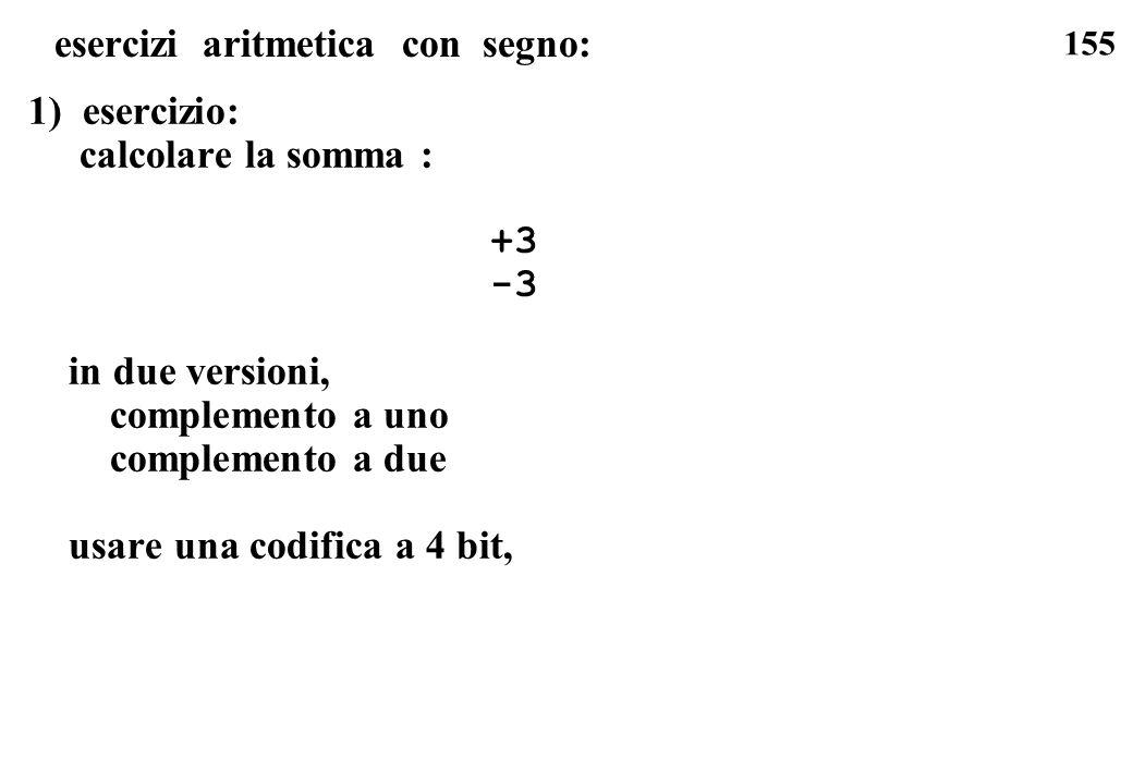 esercizi aritmetica con segno: