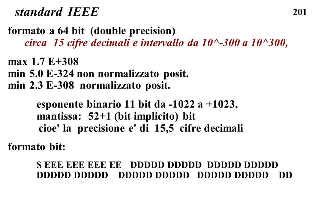 standard IEEE formato a 64 bit (double precision)