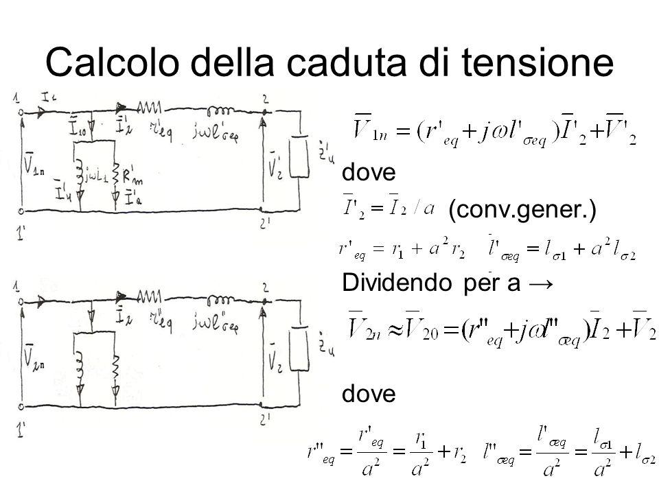 Calcolo della caduta di tensione
