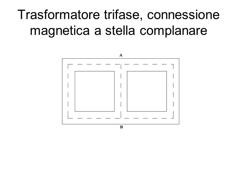 Trasformatore trifase, connessione magnetica a stella complanare