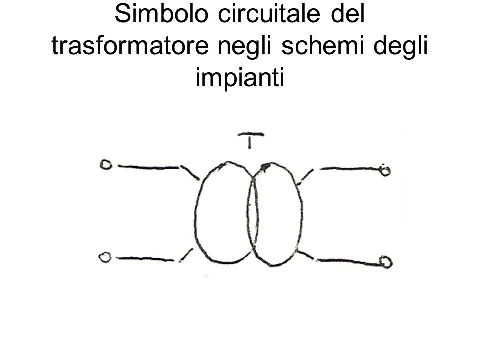 Simbolo circuitale del trasformatore negli schemi degli impianti