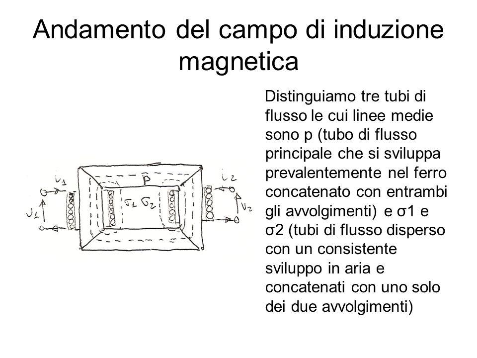 Andamento del campo di induzione magnetica