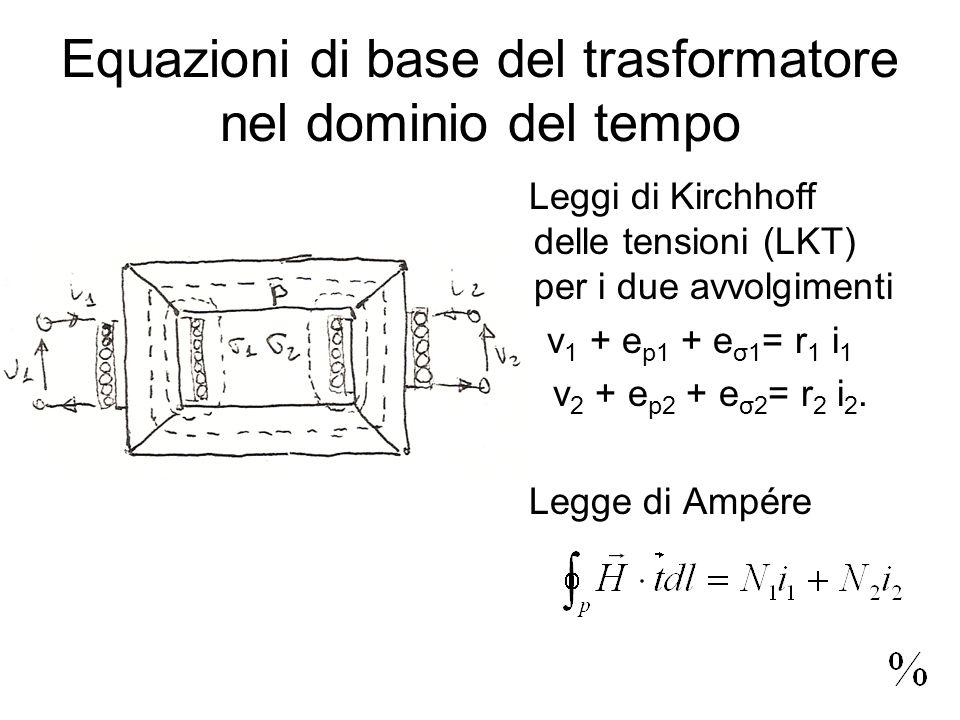 Equazioni di base del trasformatore nel dominio del tempo