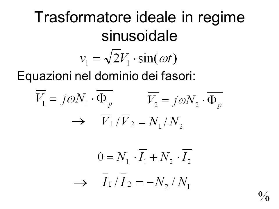 Trasformatore ideale in regime sinusoidale