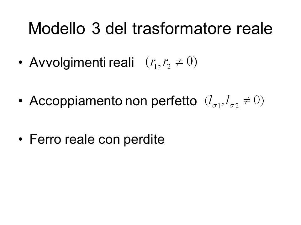 Modello 3 del trasformatore reale
