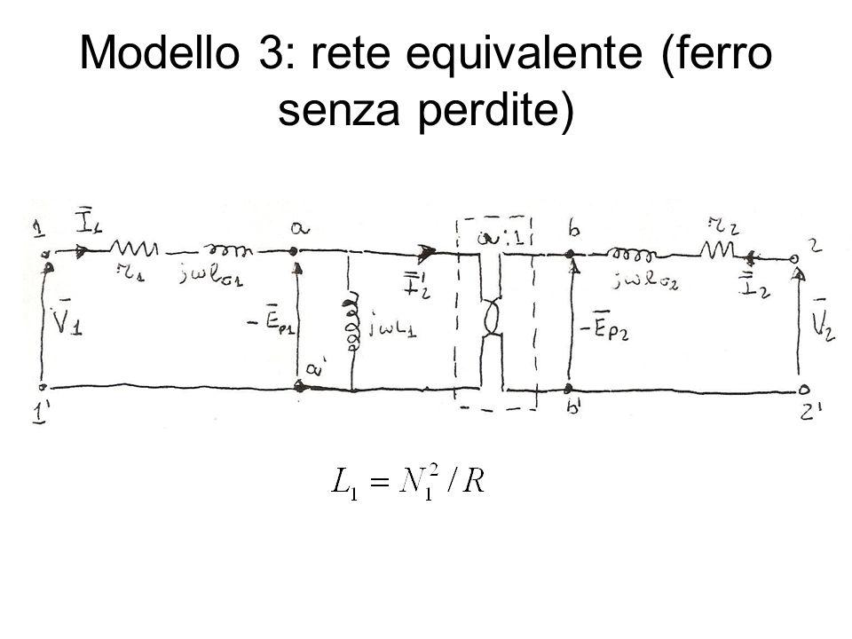 Modello 3: rete equivalente (ferro senza perdite)