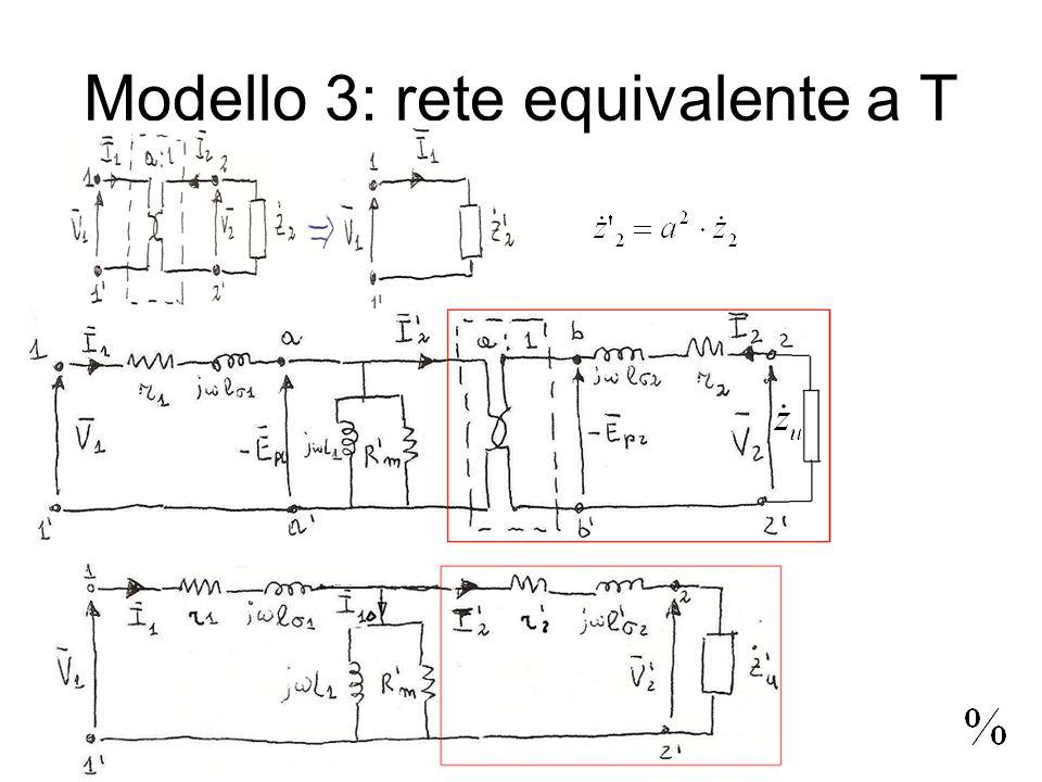 Modello 3: rete equivalente a T