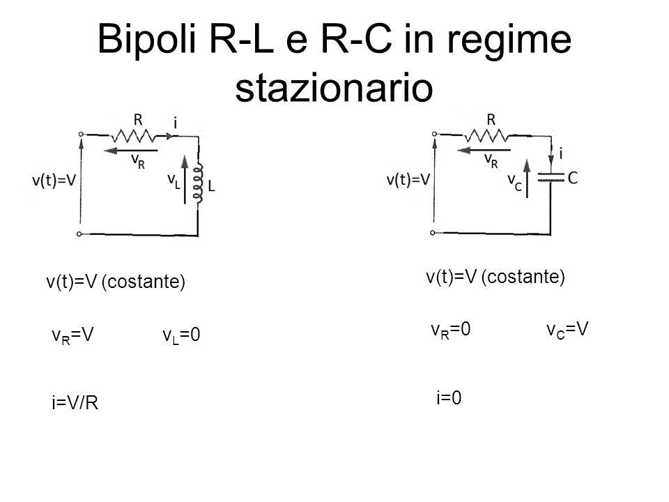 Bipoli R-L e R-C in regime stazionario