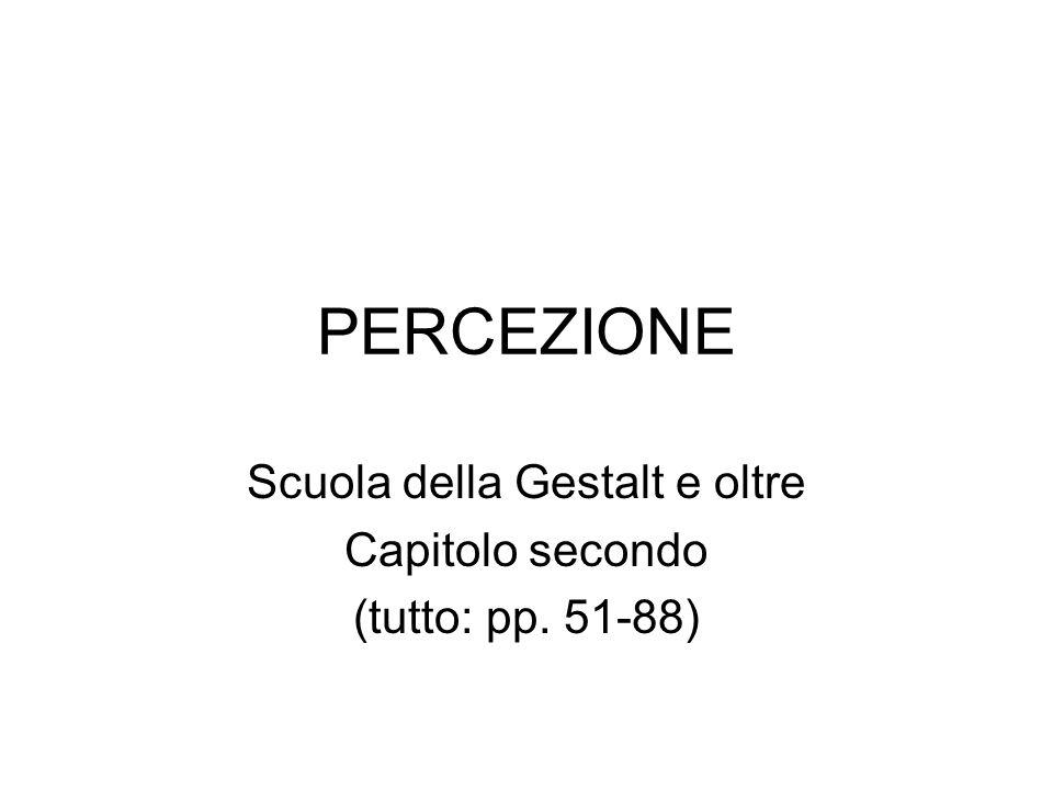 Scuola della Gestalt e oltre Capitolo secondo (tutto: pp. 51-88)