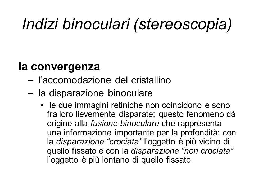 Indizi binoculari (stereoscopia)