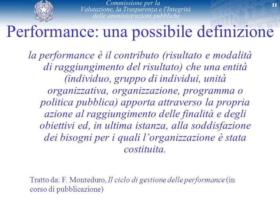 Performance: una possibile definizione