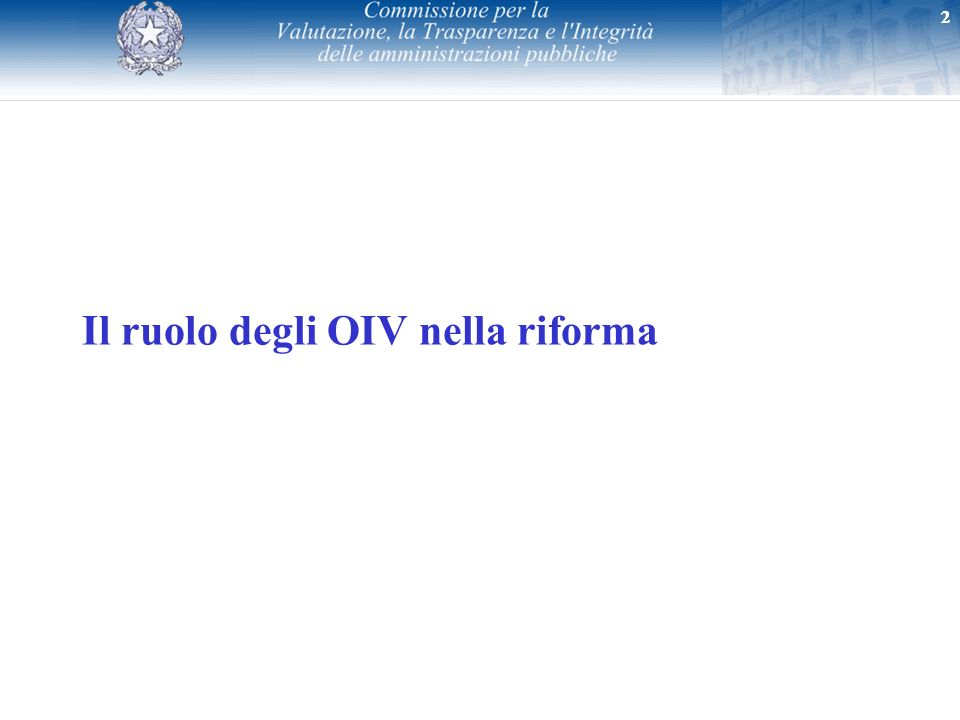 Il ruolo degli OIV nella riforma
