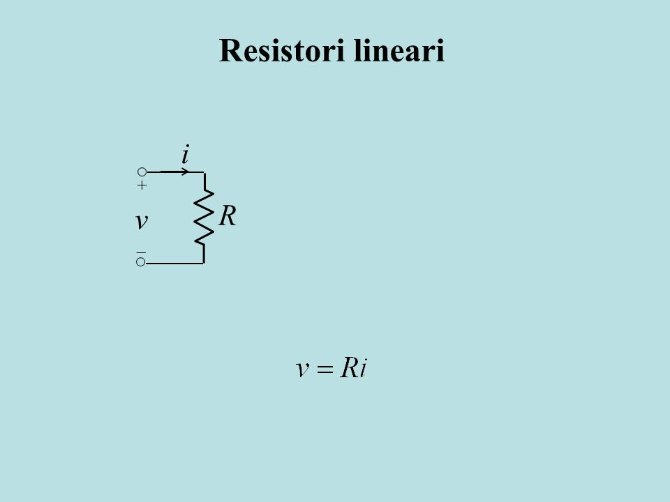 Resistori lineari i R v + 