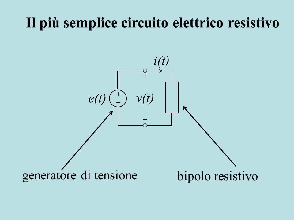 Il più semplice circuito elettrico resistivo